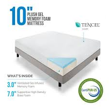 10 inch plush memory foam mattress lucid mattress