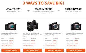 sony a7 black friday sony trade in bonus deal
