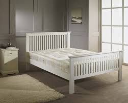 Bed Frame Simple Bedroom Furniture New Headboard White Slatted Bed Frame Wood