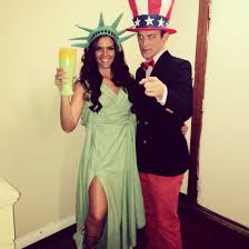 statue of liberty and uncle sam boyfriend girlfriend halloween