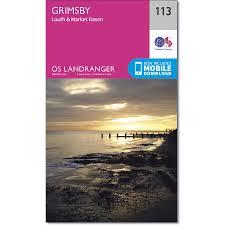 grimsby inc louth u0026 market rasen map os landranger 113