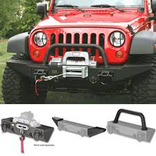 Rugged Ridge Xhd Rear Bumper 11540 50 Winch Mount Xhd Front Bumper With Bumper Ends And Hoop
