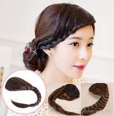 clip in fringe 8 30cm braids braiding hair bangs hairpieces clip in