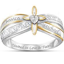 christian wedding bands christian faith engraved wedding ring jpg