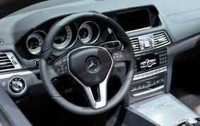 mercedes benz e class interior view of the interior of the mercedes benz e class cabriolet as it