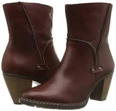rieker s boots uk rieker z1554 35 burgundy zipper detail zipper ankle boots
