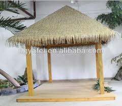 man made thatch house roof decoration artificial grass thatch tile