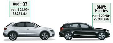 lowest price of bmw car in india luxury carmakers mercedes bmw and audi launch compact cars