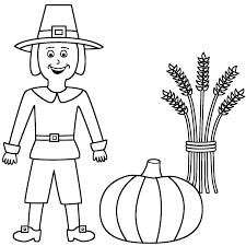 pumpkin coloring page pumpkin pilgrim boy colouring page