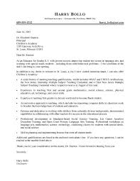 fancy sample cover letter for teaching position with experience 49