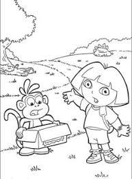 free dora explorer coloring pages dora coloring pages