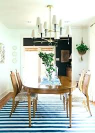 rug under dining table size dining room table rug size notor me