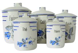 kitchen canisters ceramic rooster blue set of ceramic gallery kitchen canisters sets images