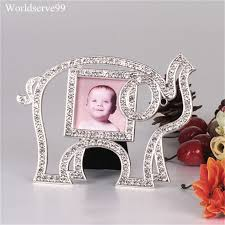 photo frame party favors elephant baby theme rhinestone photo picture frame wedding