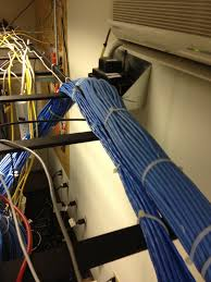 installing network cabling into a existing data center takes a