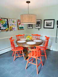 chairs inspiring orange dining room chairs burnt orange leather