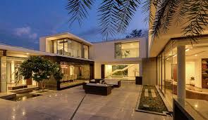 courtyard home designs contemporary delhi villa with amazing courtyard and water features