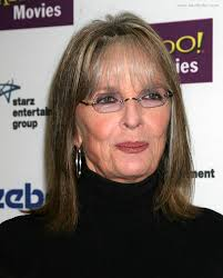 haircuts to hide forehead wrinkles diane keaton shoulder length hairstyle with thin bangs to hide
