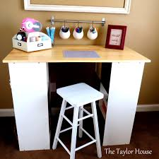 Craft Table Desk Diy Inexpensive Craft Table With Storage The Taylor House