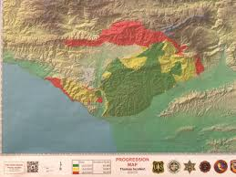 St Thomas Map Thomas Fire Milder Winds Allow For Increase In Aerial Firefight