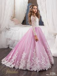 gown design unique design flower gageant girl s gowns sheer lace two color