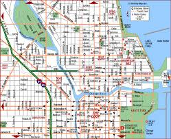 chicago map with attractions chicago map travelsfinders
