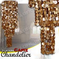 Gold Capiz Chandelier Capiz Chandelier