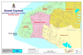 Map Of Cayman Islands Electoral Boundaries Commission