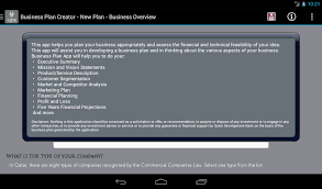 business plan creator android apps on google play