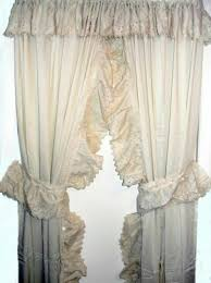 White Ruffled Curtains by Curtains Ruffled Priscilla Curtains Curtainss