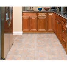 Home Dynamix Vinyl Floor Tiles by Achim Tivoli Beige Terracotta Motif Center 12x12 Self Adhesive