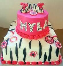torta decorada con fondant animal print cebra por judith tortas