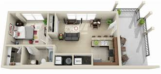 Bedroom Floorplan by Gainesville Apartment Floor Plans Lyncourt Square