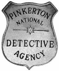 The Pinkerton Detective Agency Badge