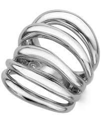 sterling silver rings necklace images Namb multi band ring in sterling silver rings jewelry tif