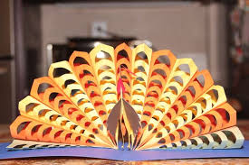 thanksgiving pop up card turkey for the projects
