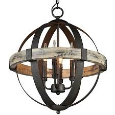 Orb Chandeliers Industrial Rustic Wrought Iron Orb Chandelier Light