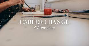 cv template career change cv library