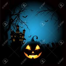 black cat halloween background spooky halloween background with a pumpkin and haunted house stock
