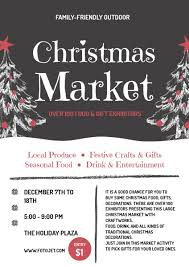 christmas market promotional flyer template template fotojet