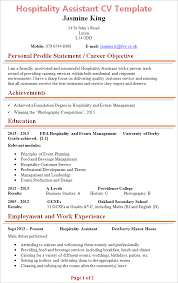 hospitality resume template 2 hospitality cv template jcmanagement co