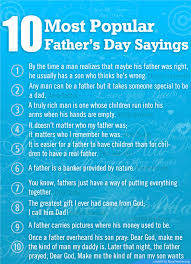 most popular father u0027s day sayings poster