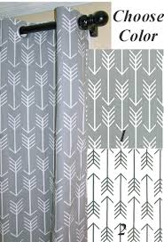Nursery Curtains With Blackout Lining by Blackout Linedgrey Arrows Curtains With Grommets 100
