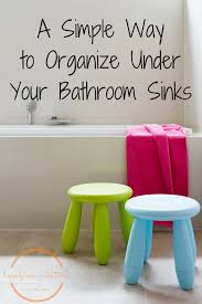 Organize Cabinets An Easy Organizing Idea For Your Bathroom Cabinets Happily Ever