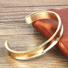 gold bangle bracelet men images New simple design gold stainless steel custom open cuff bangle jpg