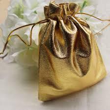 gold gift bags 100pcs lot gold gift bag 7x9 cm candy pouches drawstring bag