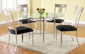 glass round dining table for 6 intended for glass round dining