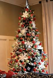 decorating a flocked christmas tree u2013 decoration image idea