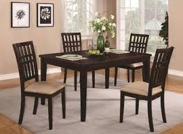acme vendome 7pc single pedestal round dining room set in cherry