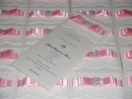 vintage lace in pink crystal couture luxury wedding stationery